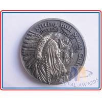 Promotion Gift Custom Challenge Coins Collectors Old Effect Antique Silver Plating