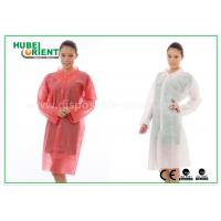 Cheap PP Disposable Lab Coats , custom disposable lab gowns Protective with Snap for sale