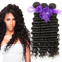 Cheap Peruvian Deep Wave Hair Bundles No Shedding , Peruvian Hair Deep Body Wave  for sale