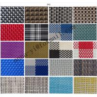 Patio Furniture Webbing Replacement PVC Mesh Fabric Anti UV 2X2 Woven For Sal