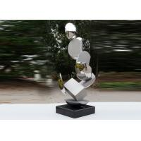 Modern Stainless Steel Sculpture Highly Polished For Pool Decoration for sale