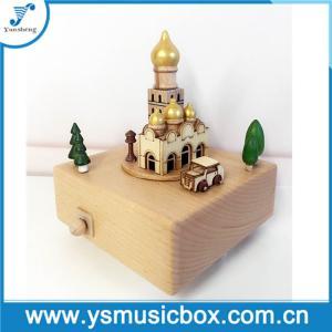 Cheap Souvenir Wonderful Wooden Taj Mahal Design Music Box Gift Musical Box for sale