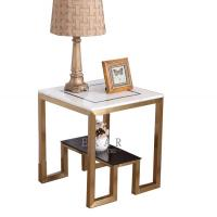 Buy cheap Latest Design Furniture Mental Leg Square Marble Side Table from wholesalers