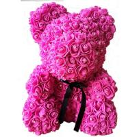 Cheap Crazy selling gift foam rose teddy bear   Factory Price Artificial Flower Gaint Teddy Bear for sale