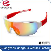 Quality Adult Outdoor Half Frame PC Safety Sports Sunglasses Brands For Men / Madam wholesale