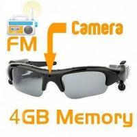 China DV86A 4GB Spy Camera Sunglass MP3 with FM on sale