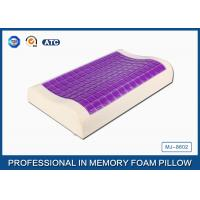 Cheap Small Ice Cooling Gel Contour Visco - Elastic Memory Foam Pillow Covered Bamboo Pillowcase for sale