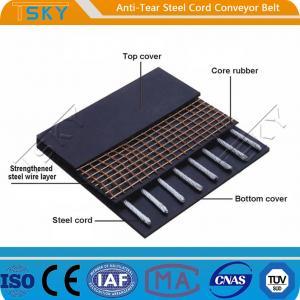 Cheap Anti-Tear Steel Cord Conveyor Belt Tear Resistant Conveyor Belt for sale