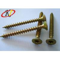 China Yellow Zinc Double Countersunk Head Screw , Torx / Square Drive Chipboard Flooring Screws on sale