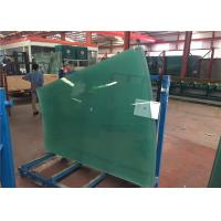Cheap Flat / Curved Decorative Toughened Tempered Glass for Building , Furniture , Shower Door for sale