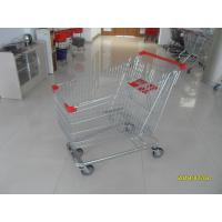 Buy cheap Zinc Plated  Chromed Grocery Shopping Cart 240L Hand  With Metal Tube Base from wholesalers