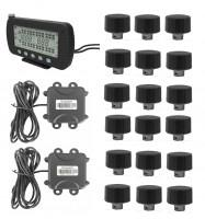 Max.203 PSI Truck TPMS With Strap-on Sensors Display 5 In LCD Monitor RS232 DB9 Connector trailer changeble