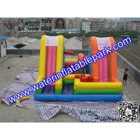 Buy cheap Colored Commercial Grade PVC Tarpaulin Inflatable Bouncy Castle Slide Combo from wholesalers