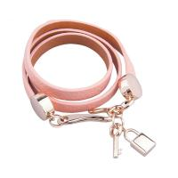 Multi Color Womens Leather Jewelry Punk Wrap Braided Leather Bracelet With Lock And Key
