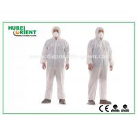 Cheap Hooded Nonwoven Disposable Coveralls with Various Colors CE Standard for sale