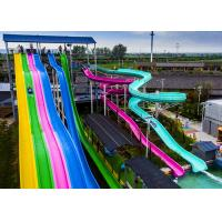 Durable Adult Water Slide Free Fall Slide 780 Persons / Hour Sliding Mode