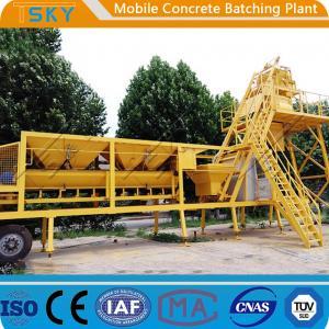 Cheap AC 380V 50HZ HZS25 25m³/h Mobile Concrete Batching Plant for sale