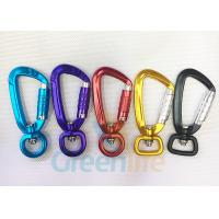 Cheap Aviation Auto Lock Snap Hook Carabiner Aluminum 9CM Length For Coil Lanyard for sale