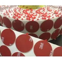 Cheap Die cutting Adhesive Tape Custom Shape Adhesive Tape Round Dots with Tabs for sale