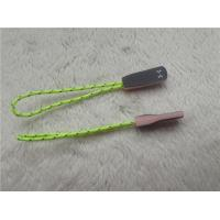 Cheap Fluorescent Green Rope Eye Catching Rubber Zipper Puller For Outdoor Sportswear for sale