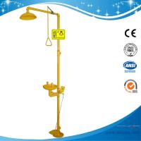 SH712BF-Galvanization Iron Safety shower & eyewash station,Foot pedal Carbon Steel eyewash
