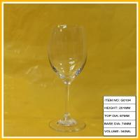 China Swarovski Crystal Red Goblet Wine Glass , Decorative Wine Glasses For Party on sale