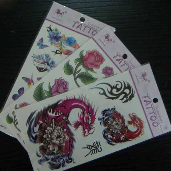 Custom made removable temporary body tattoo stickers for for Custom tattoo stickers