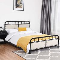 Cheap Rust Proof King Size Iron Bed Long Lasting Durability Smooth Finish Edges for sale
