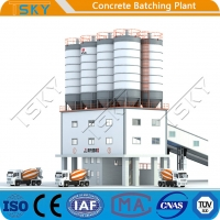 Cheap Fully Automatic Compact Tower 240m3 Concrete Mixing Plant for sale