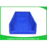 China Customized Industrial Plastic Storage Containers , Standard Size Stackable Storage Bins on sale