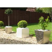 Cheap Contemporary Polished Stainless Steel Planters Decorative Customized Size for sale