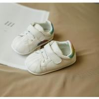 new style white baby shoes sport walking genuine leather shoes lovely pattern good quality