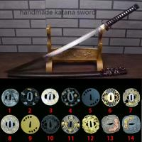 Cheap handmade japanese real swords highly bendable blade SS005 for sale