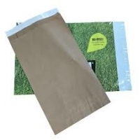 Cheap Self Adhesive Biodegradable Kraft Paper Mailing Bags for sale