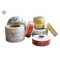 Cheap Varnish Surface Printed Self Adhesive Labels For Advertising ISO CE Waterproof Adhesive Labels for sale
