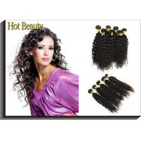 Cheap Custom Natural Black Remy Virgin Human Hair Extensions Deep Wave for sale