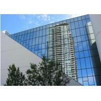 Cheap Office Building Reflective Float Glass 2mm - 19mm Thickness Reflective Blue Glass for sale