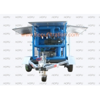 Cheap Double Stage Vacuum Transformer Oil Purifier Equipped Twin-Shaft Trailer,Insulating Oil Separator With Two Vacuum Tank for sale
