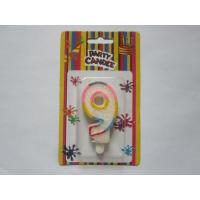 Glitter Number Birthday Candles , Color Changing Happy Birthday Candles Number 9