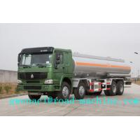 Cheap SINOTRUK HOWO 8x4 38000L Oil Tanker Truck with 400L Fuel Tank , 380 Horsepower ZZ5307M3267P for sale