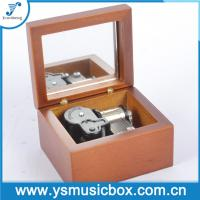 Cheap Red Wooden Music Box with Yunsheng Musical movement for Birthday Gift/Musical Box with Mir for sale