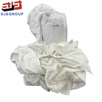 Cheap Strong Water Absorbency 10kg 100 Cotton White T Shirt Rags for sale