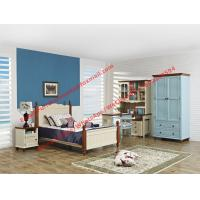 Cheap Hotel style apartment interior furniture for single people bedroom set by double bed and read bookcase set with armoire for sale