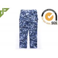 Quality Ocean Military Style Cargo Pants , Polyester Cotton Combat Trousers With Knee Pads wholesale