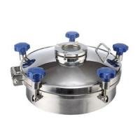 Cheap Pressure Circular Stainless Steel Manhole Cover SS316L With Flange Sight Glass for sale