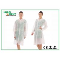 Cheap Dental Medical Tyvek Disposable Lab Coats / Plus Size Lab Coats Breathable For Body for sale