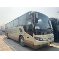 Cheap LHD Nude Packing Rear Engine Low Kilometer Passenger Bus Steel Chassis Higer Brand Model KLQ6115 Used Coach Bus 53 Seats for sale