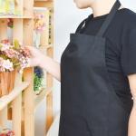 Cheap Adult Black Cotton Blend Apron with Adjustable Neck Strap Kitchen Aprons for sale