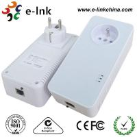 Cheap 1200Mbps Passthrough Powerline Adapter with Power Socket Powerline Line Communication for sale