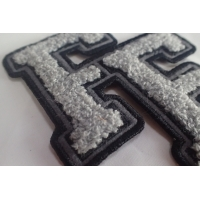 Cheap 100% Towel Sew Chenille Custom Embroidered Patches for sale